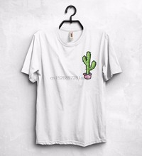Cactus Logo T-Shirt Top Tumblr Fashion Plants Vegan Cute Insta Instagram Giftnew 2019 Funny Print T Shirt Men Hot Brand Clothing(China)