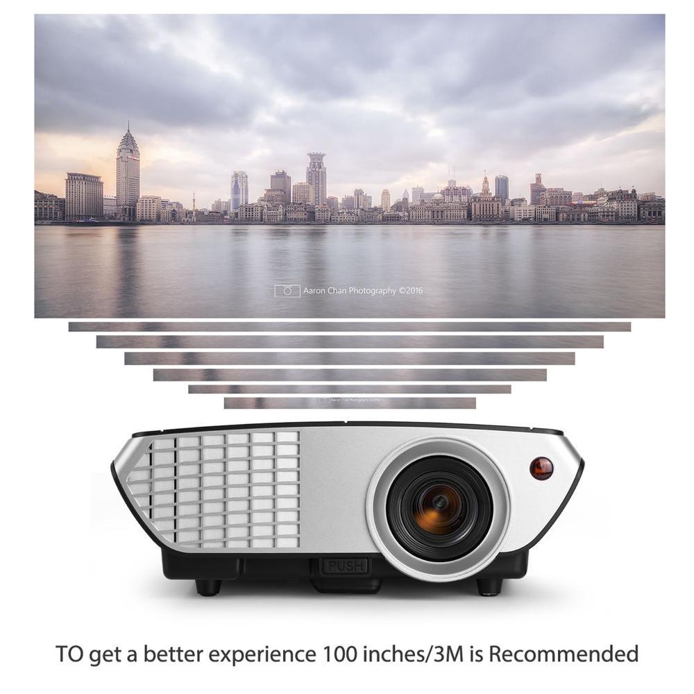 5 pouces TFT AC 100-240V 2000 Lumens Mini Portable LCD projecteur LED multimédia vidéo avec câble HDMI pour cinéma maison