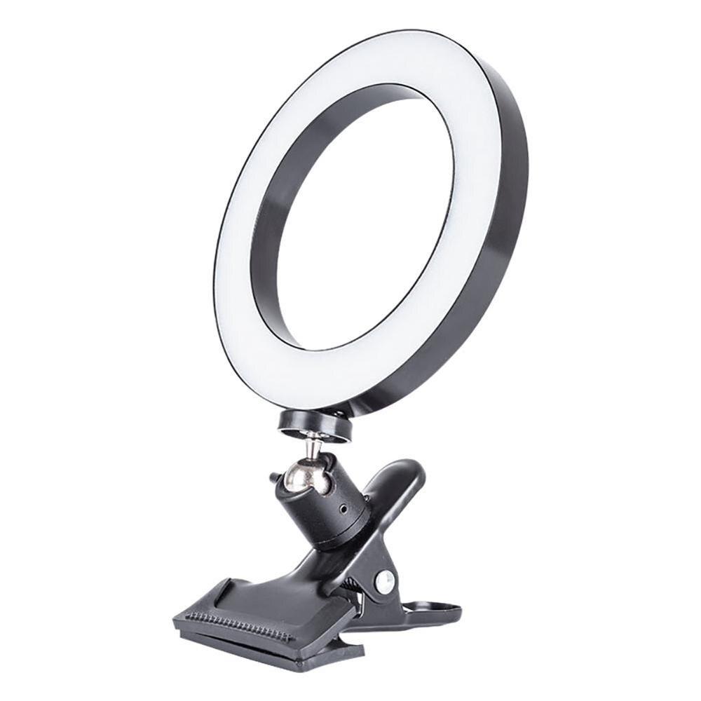 20cm dolgu halka ışık cep telefonu bilgisayar için parlaklık ayarlanabilir Selfie ışıkları canlı yayın Video dolgu işığı
