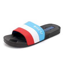 Four Seasons Men Slippers Trend Beach Cool Slippers Bathroom Non-slip Couple Slippers Home Big Code One Word Drag 2019 new trend embroidery word drag men outside wearing damp slippers anti slip wear thick bottom home bathroom slippers