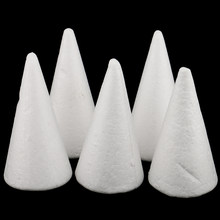 15 Uds 7/10cm creativo cono espuma de poliestireno extruido para modelado Material bricolaje