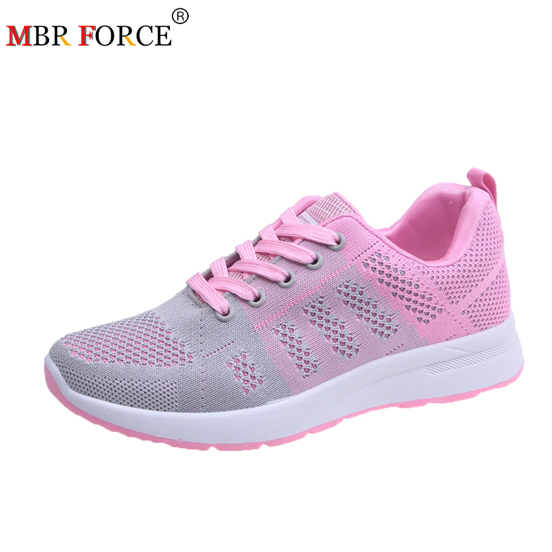 MBR FORCE 2020 New Women Shoes Flats Fashion Casual Ladies Shoes Woman Breathable Mesh Female Sneakers Zapatillas Mujer Feminino