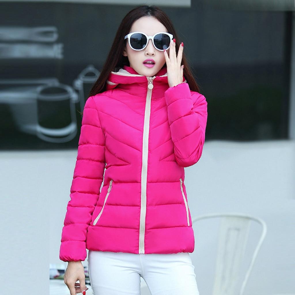 H27f1c78d7a424169877c965d540621830 fashion Women's Jackets Hooded Thickening Slim Outwear Winter Warm Casual Short Jacket Women Coat Outwear Tops