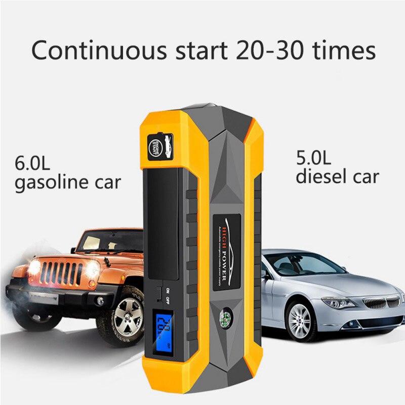 Démarreur de saut de voiture de secours 12V 1000A chargeur de voiture Portable batterie externe pour voiture Booster alimentation de démarrage automatique du dispositif