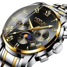 Men's Watch Automatic Mechanical Top-Brand Luxury Waterproof Fashion 3-Eyes 6-Needles