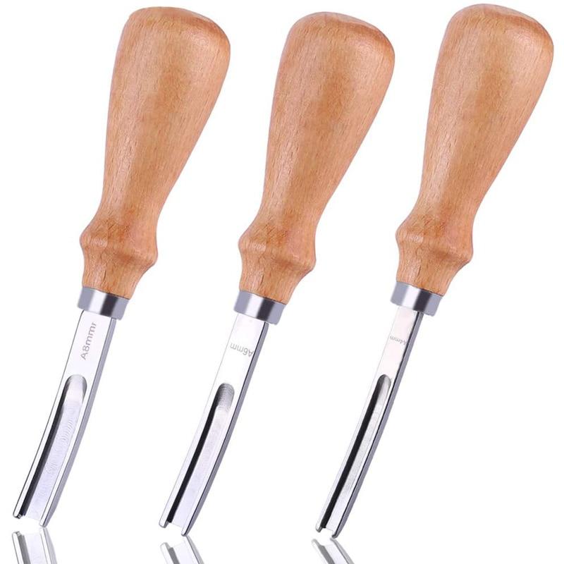 Кожевенное ремесло LMDZ 3 размера 8 мм 6 мм 4 мм кожевенное ремесло режущий нож для самостоятельной шлифовки инструменты для резки с деревянной ...