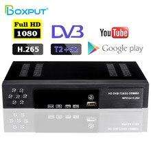 Dvb t2 s2 combinação digital completa hd receptor satélite suporte dolby, iptv, pvr, youtube conjunto caixa superior com wi-fi