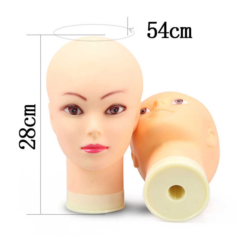 Top Selling Female Mannequin Head Without Hair For Making Wig Stand and Hat Display Cosmetology Manikin Training Head T-pins