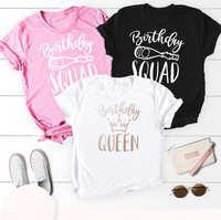 Mujeres camiseta Grunge lema de Tumblr gráfico estética cita de fiesta de algodón regalo Sassy camiseta Top camisas de cumpleaños reina escuadrón
