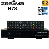 Zgemma star H7S E2 Linux Satellite Cable 4k UHD TV Receiver 2*DVB-S2/S2X+DVB-T2/C Satellite TV Decoder