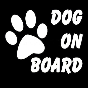 Baby Pet Dog on Board Car Stylish Car Stickers Reflective Warning Sign Dacel image