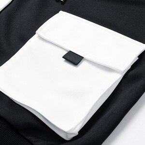 Image 3 - Singload męskie bluzy 2020 kieszenie moda bluza Hip Hop Harajuku japońska moda uliczna czarna bluza z kapturem męskie bluzy męskie