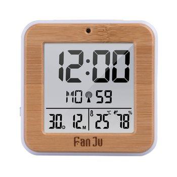 Reloj despertador Digital DCF Radio termómetro de alarma Dual higrómetro estación meteorológica 50JD