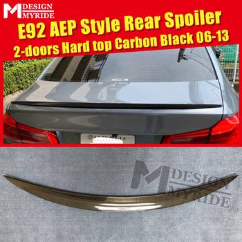 E92 Spoiler Carbon Spoiler Tail Wings Fits For BMW 3-Series 325i 328i 330i 335i 2-door Hard Top AEP Style Black Spoiler 2006-13
