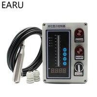 1SET 4 20MA 0 5V 0 10V Output Liquid Oil Water Level Sensor Transmitter Detect Controller Float Switch Waterproof Mount Box Pump