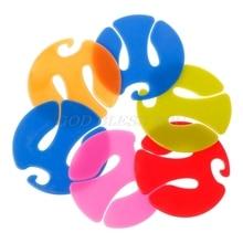 Socks Clip Hanger 6pcs Underwear Drying-Rack Circle-Shape Colorful