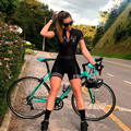 Summer Bike Cycling Jersey Sets Women Clothing Triathlon Skinsuit Jumpsuit Breathable Bicyle Team Racing Uniform Outfit Gel Pad