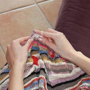 Image 5 - LMDZ 2 sztuk/zestaw 35cm szpiczaste z jednej strony druty do robienia na drutach prosto aluminium DIY narzędzie tkackie długi sweter szalik igły 2.0 12mm