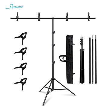 1.5/2/2.6M*2M T-Shape Backdrop Stand With Green Screen Photo Background Support For Birthday Portrait Photo Studio Photography 1