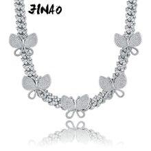 Ожерелье jinao женское с вращающейся бабочкой миниатюрное ювелирное