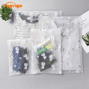 Image 2 - VOGVIGO PEVA Cartoon Mouse Transparent Cosmetic Bag Animal Travel Makeup Case Zipper Organizer Storage Pouch Toiletry Wash Kit