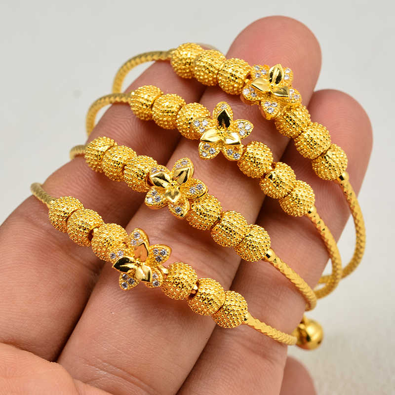 Gold Color Baby Child Bracelet Bangles