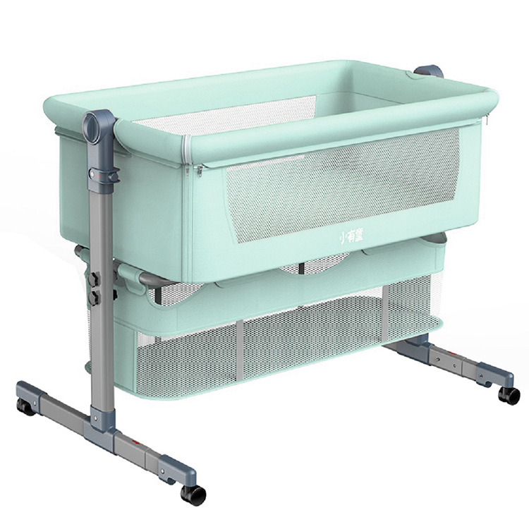 Newborn Game Bed Multifunctional Baby Crib Connection Mom Bed Folding Portable Travel Bed Double Layer Child Cradle