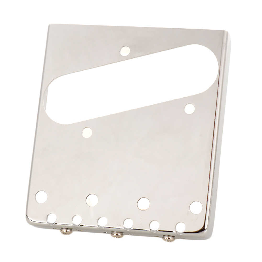 wavewave 3 Saddle Ashtray Bridge Tailpiece Chrome Plated Compensated Brass Saddles with Screws Wrench for Tele Electric Guitar Replace