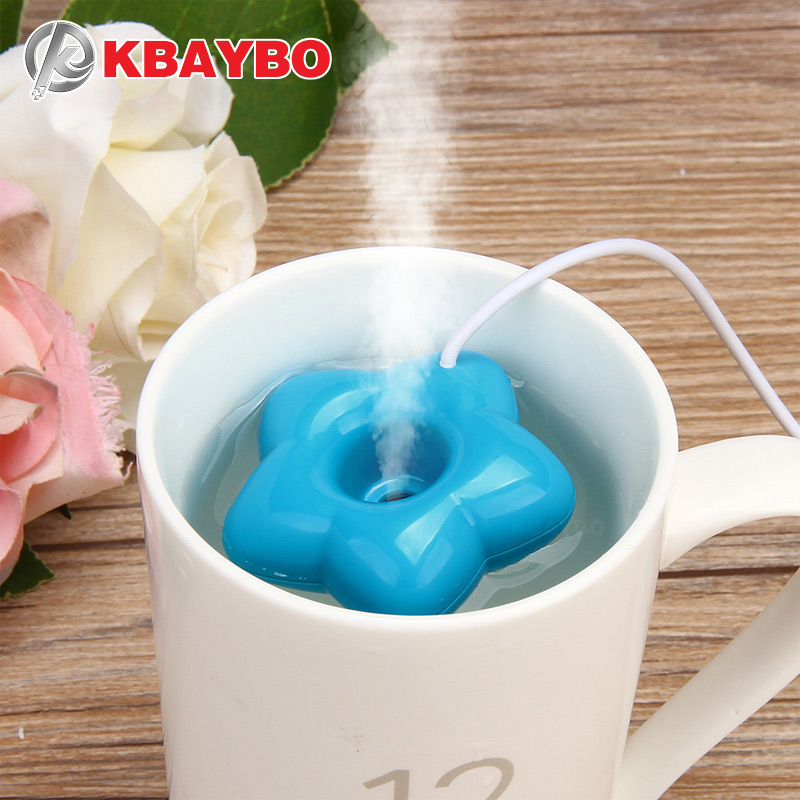 KBAYBO Hot Mini USB Air Humidifier Donuts Purifier Portable Aroma Diffuser Steam For Office Home