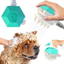 3 in 1dog Bad Pinsel, hundesalon Massage Dusche Kopf Sprayer, shampoo Dusche Gel Dispenser Hund katze Massage und Pflege