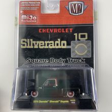 Машина M2 масштаб 1:64 1975 для Chevrolet silcerado, капот квадратного кузова грузовика, можно открыть, Ограниченная Коллекция, модель литая автомобиля