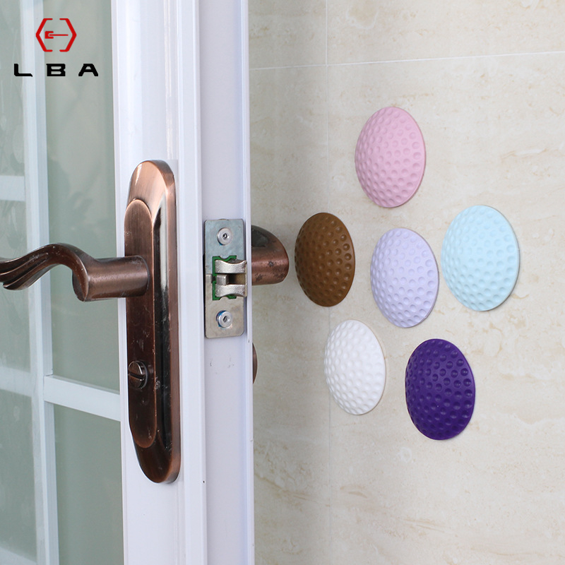LBA 5 Pcs New Door Handle Door Lock Decorative Furniture Crash Pad Wall Tile Anti-collision Block Silicone Bumper Rubber