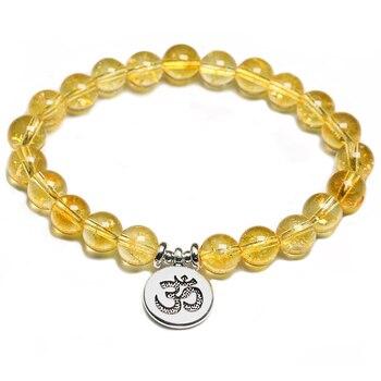 Citrine naturelle pierre m ditation Lotus bouddha pendentif femmes Bracelet pour hommes nergie gu rison Yoga