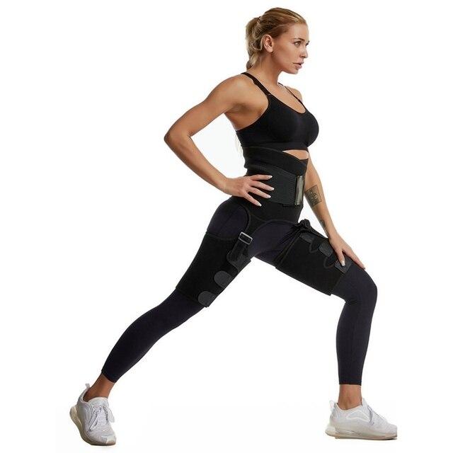 Neoprene Leg Shapers Sauna Thigh Trimmer Slimmer Body Shaper High Waist Trainer Sweat Shapewear Belt Control Panties 3