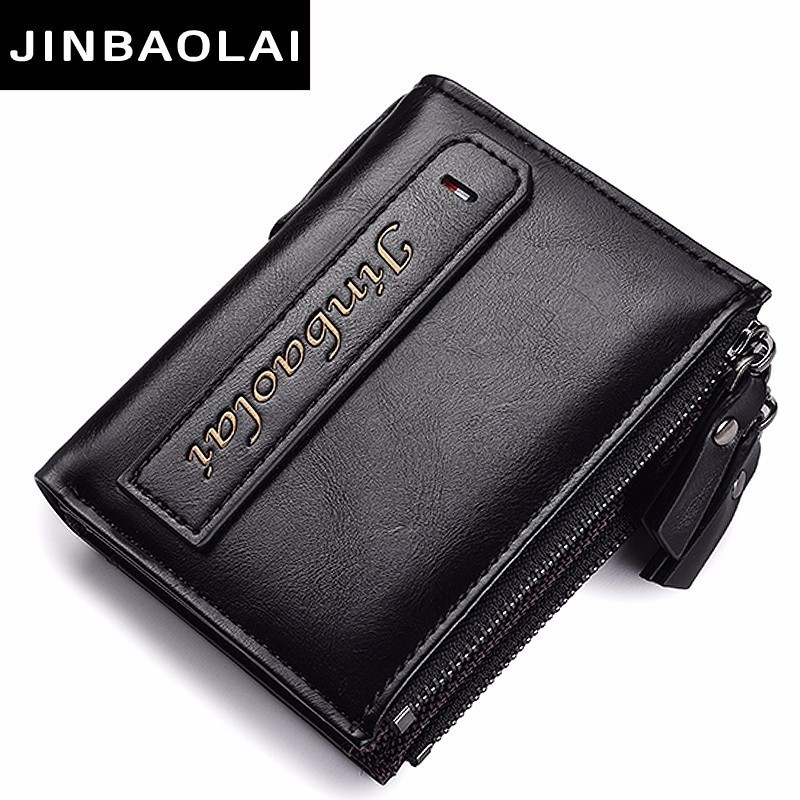 100% PU Leather Men Wallet Small Zipper Pocket Men Wallets Portomonee Male Short Coin Purse Brand Perse Carteira For Rfid