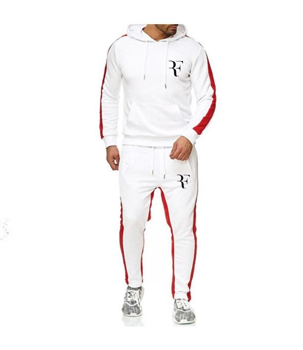 Autumn Hooded Sweatshirts Suits Male Solid Tracksuit Pattern Printed F Hoodies + Pants 2 Piece Suit Men Casual Set Sportswear
