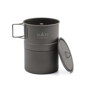 Image 3 - TOAKS MAXI Titanium Moka Stovetop cafetera Espresso olla ultraligera al aire libre conveniente mocha Pot