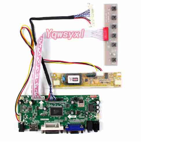 Yqwsyxl Control Board Monitor Kit for  M185XW01 V8 V.8   M185XW01 V0 V.0 HDMI + DVI + VGA LCD LED screen Controller Board Driver