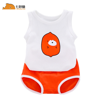 Baby Boys sets summer  Clothes 100% Cotton Infant Vest Tops + Shorts Sets Boys Girls Clothing Outfits high quality bebe clothes
