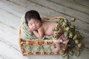 Image 4 - Dvotinst Newborn Photography Props for Baby Retro Handmade Rattan Basket Bucket Fotografia Accessories Studio Shoots Photo Props