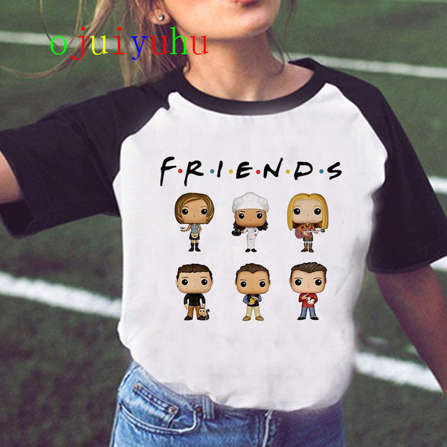 Friends Tv Show  T Shirt Women  Harajuku Ulzzang T-shirt Clothing Female Kawaii Graphic Tshirt Femme Grunge Aesthetic Top Tees