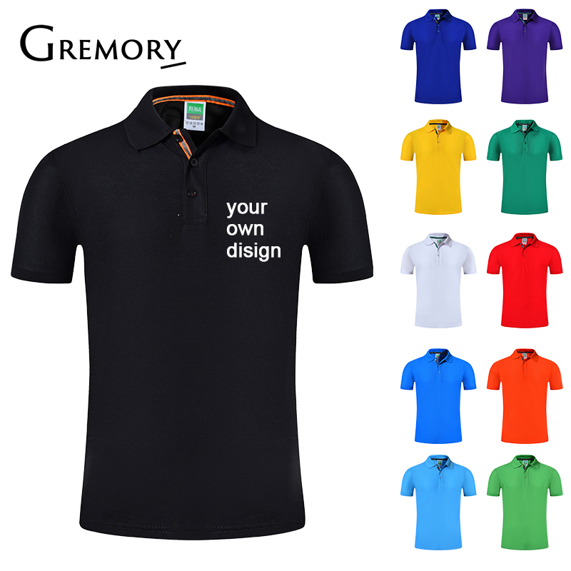 2019 Your OWN Design Brand Logo/Picture White Custom Men and women   Polo   Shirts Plus Size   Polo   Shirt Men Clothing HM-116