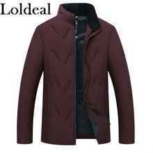 Loldeal Mens Packable Stand Collar Lightweight Down Puffer Jacket