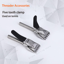 Machine-Tools Tennis Stringing Alpha Threader-Accessories Base-Clip Five-Teeth 2PCS Flying-Clamp