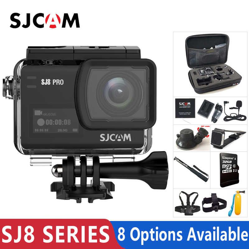 Asli SJCAM SJ8 Seri SJ8 Air & SJ8 PLUS & SJ8 Pro Action Camera 1290P 4K WIFI Remote kontrol Tahan Air Olahraga DV