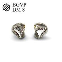 BGVP DM8 נואלס Sonion 8 מאוזן היברידי HIFI רעש הפחתת Wired אוזניות באוזן צג אוזניות MMCX להסרה כבל