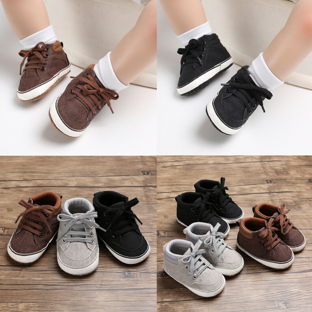 Cute Toddler Baby Shoes Boy Girl Soft Soles Anti-slip Crib Lace-Up Sneaker 0-18M Winter Warm Baby Shoes