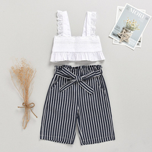 Summer Baby Clothes Set Newborn Outfits Stripe Romper Bodysuit 2 Pieces Tops and Pants Cool Tops Loose Pants Baby Girls Set stars and stripe pattern bodysuit