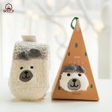 Christmas Socks Cute New 2019 Women Sock Winter Warm Gifts Stereo Soft Cotton Santa Claus Deer Xmas