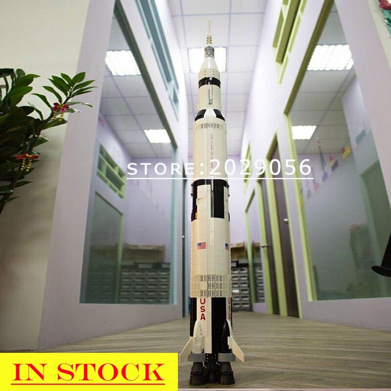 37003 10266 Saturn V Moon Space Rocket Lunar Lander Model compatible with 21309 21321 80013 10266 Building Blocks Bricks
